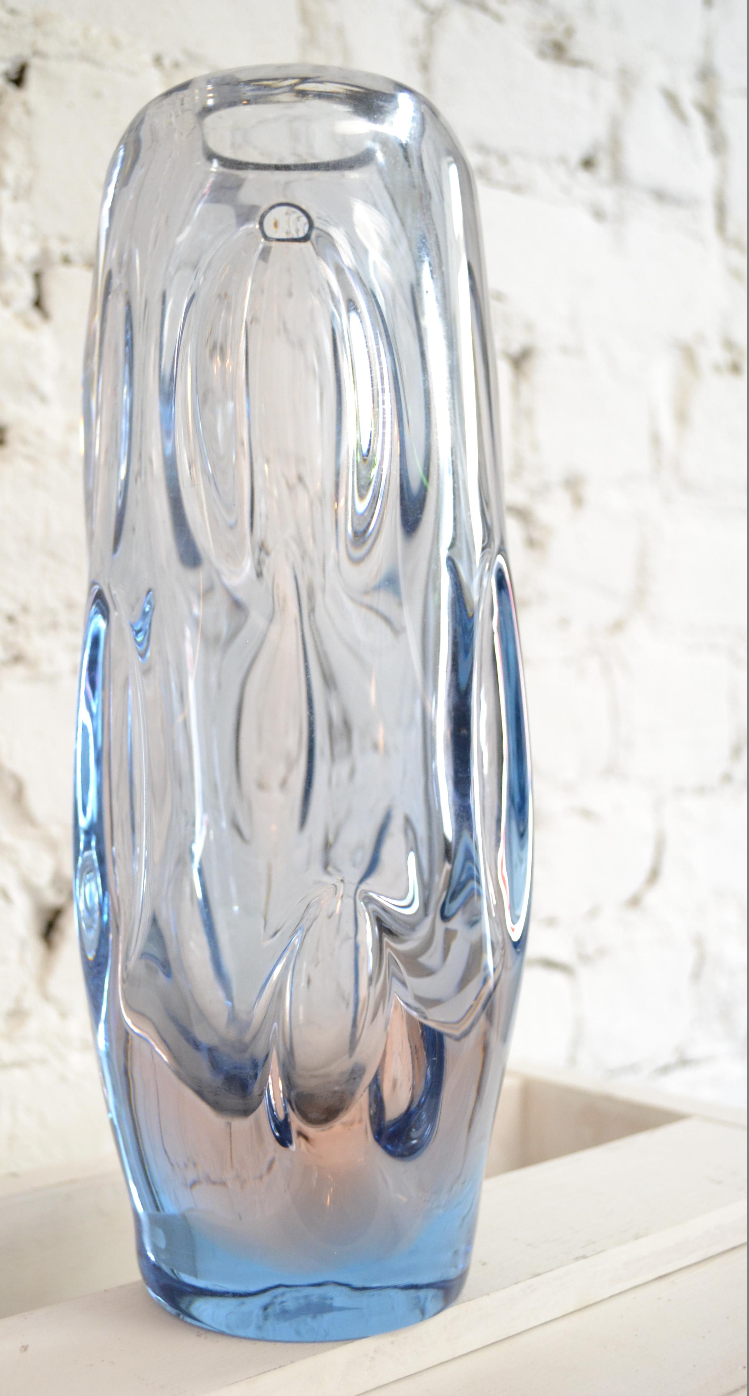 vase en verre souffl tchecoslovaque skrdlovice harold. Black Bedroom Furniture Sets. Home Design Ideas