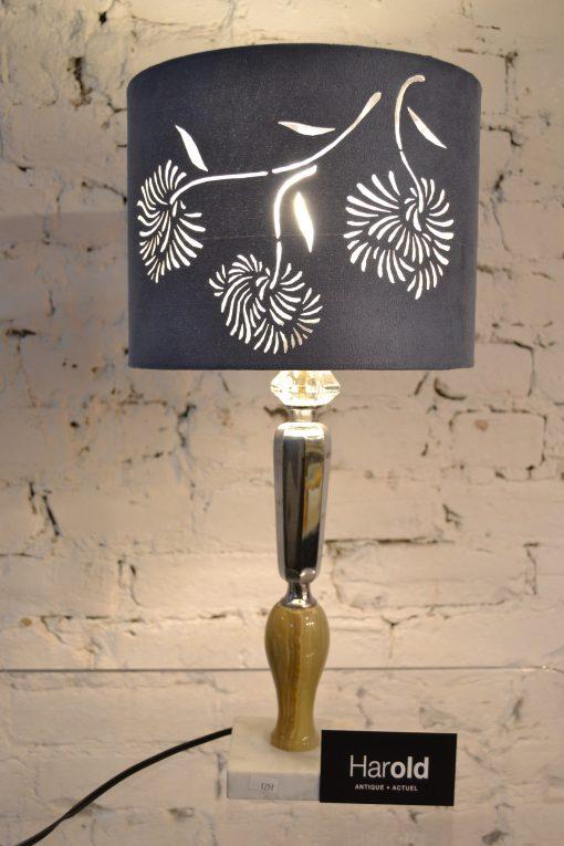 Lampe abat jour fleur unique co responsable fabriqu e for Abat jour salle de bain